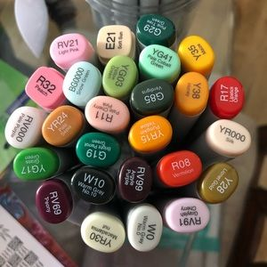 29 Copic Alcohol Markers.